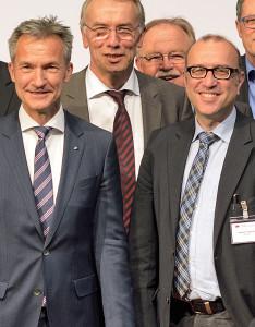 Frank Baranowski (links), Gelsenkirchens Oberbürgermeister und SGK-Landesvorsitzender, sowie Apostolos Tsalastras (rechts).